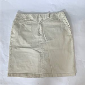 TALBOTS stretch khaki skirt size 12